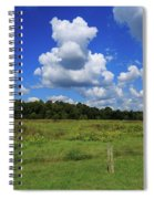 Clouds Surround The Landscape Spiral Notebook