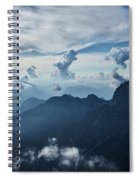 Moody Cloudy Mountains With A Lot Of Contrast And Shadows And Clouds Spiral Notebook