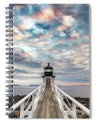 Cloudy Skies At Marshall Point Spiral Notebook