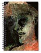 Clown On Black Spiral Notebook