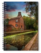Coalport Bottle Kiln Sunset Spiral Notebook