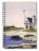 Coast Guard Station  Two Lights  Maine  Spiral Notebook