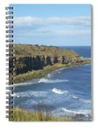 coastal bay at Cove with cliffs Spiral Notebook