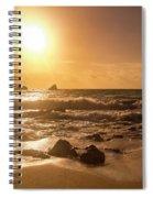 Coastal Sunrise Silhouette Spiral Notebook