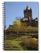 Cochem Castle And Vineyard In Germany Spiral Notebook