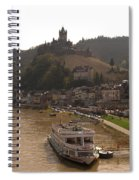 Cochem Castle, Town And River Mosel In Germany Spiral Notebook