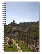 Cochem Main Street And Castle In Springtime In Germany Spiral Notebook