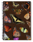 Collage Of Ca Butterflies Spiral Notebook