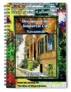 Collectible Dreaming Savannah Book Poster Spiral Notebook