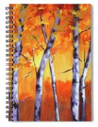 Color Forest Landscape Spiral Notebook