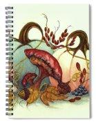 Color Me Autumn - Pumpkins And Mushrooms Spiral Notebook