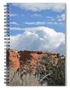 Colorado National Monument Colorado Blue Sky Red Rocks Clouds Trees Spiral Notebook