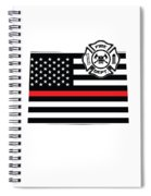 Colorado Firefighter Shield Thin Red Line Flag Spiral Notebook
