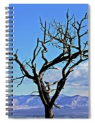 Colorado National Monument Colorado Blue Sky Red Rocks Clouds Trees 2 10212018 2842.jpg Spiral Notebook