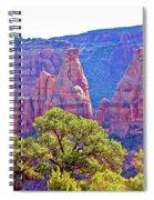 Colorado National Monument Colorado Blue Sky Red Rocks Clouds Trees 2 10212018 2871.jpg Spiral Notebook