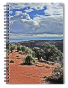 Colorado National Monument Trees Rock Formations Clouds 3001 Spiral Notebook