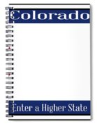 Colorado State License Plate Spiral Notebook