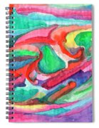 Colorful Abstraction Spiral Notebook