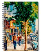 Colorful Cafe Painting Irish Pubs Bistros Bars Diners Delis Downtown C Spandau Montreal Eats         Spiral Notebook