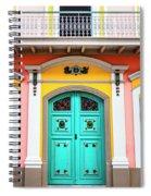 Colorful Door Spiral Notebook