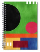 Colorful Geometric Abstract 4- Art By Linda Woods Spiral Notebook