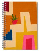 Colorful Geometric House 2- Art By Linda Woods Spiral Notebook