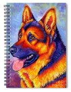 Colorful German Shepherd Dog Spiral Notebook