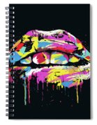 Colorful Lips Spiral Notebook