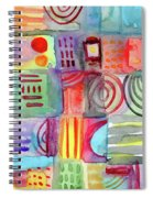 Colorful Patchwork 1- Art By Linda Woods Spiral Notebook