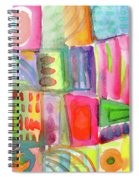 Colorful Patchwork 2- Art By Linda Woods Spiral Notebook