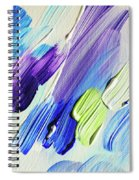 Colorful Rain Fragment 2. Abstract Painting Spiral Notebook