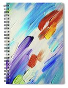 Colorful Rain Fragment 3. Abstract Painting Spiral Notebook