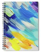 Colorful Rain Fragment 5. Abstract Painting Spiral Notebook