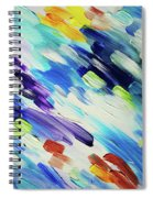 Colorful Rain Fragment 6. Abstract Painting Spiral Notebook