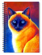 Colorful Siamese Cat Spiral Notebook