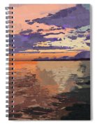 Colorful Sunset Over The Gulf Of Mexico Spiral Notebook