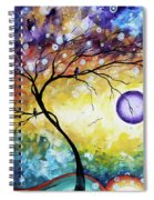 Colorful Whimsical Original Landscape Tree Painting Purple Reign By Megan Duncanson Spiral Notebook