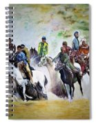 Colors In Buzkash Sport Spiral Notebook