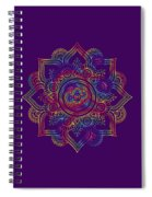 Colourful Rainbow Mandala Lavender Spiral Notebook