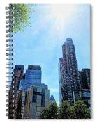 Columbus Circle At Mid Day Spiral Notebook