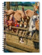 Come Aboard There's Plenty Of Room Ark Spiral Notebook