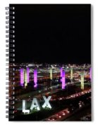 Coming And Going In The Heart Of L A At Night-time Spiral Notebook