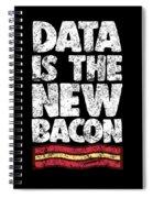 Computer Big Data Bacon Geek Pun Apparel Spiral Notebook