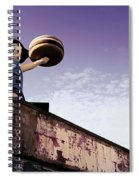 Coney Island Remnants Of Bygone Era  Ny  Spiral Notebook