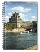 Contemplating The Louvre Spiral Notebook