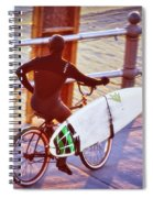 Contemplating The Surf Spiral Notebook