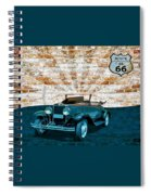 Convertible Vintage Car Spiral Notebook