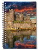 Conwy Castle Sunset Spiral Notebook