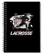 Cool Lacrosse Player Outdoors Sports Team Typography Spiral Notebook
