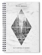 Coordinates New York City Fifth Avenue Spiral Notebook